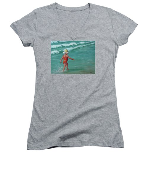 Making A Splash   Women's V-Neck T-Shirt
