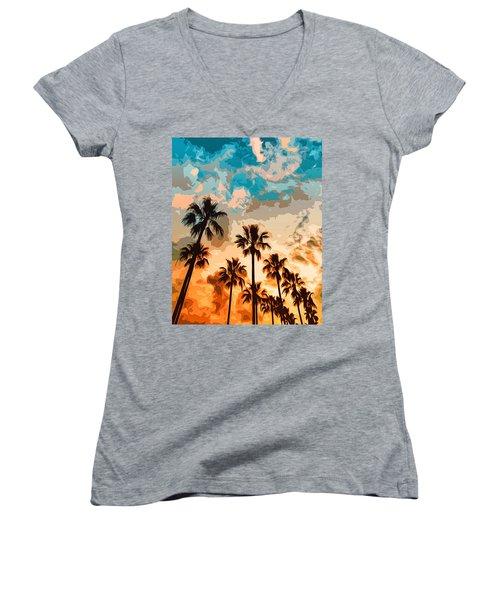 Malibu Beach - Heaven's Sky Women's V-Neck
