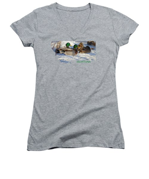 Mallard Montana Women's V-Neck T-Shirt