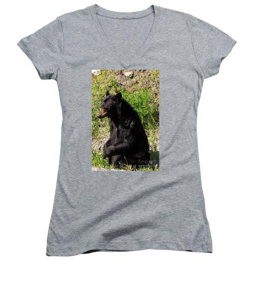 Mama Black Bear Women's V-Neck T-Shirt
