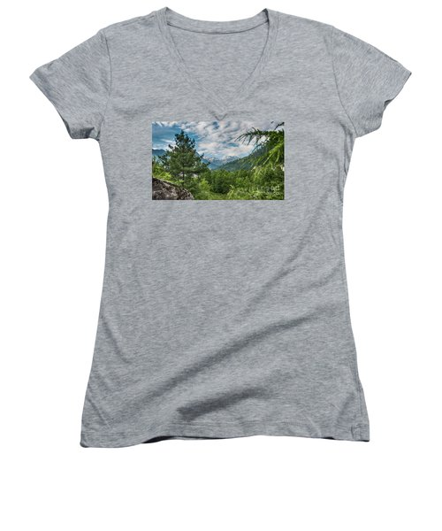 Manali In Summer Women's V-Neck T-Shirt