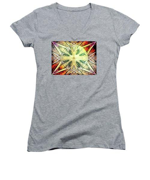 Mandala Women's V-Neck T-Shirt (Junior Cut) by Beto Machado