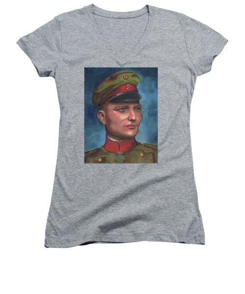 Manfred Von Richthofen The Red Baron Women's V-Neck