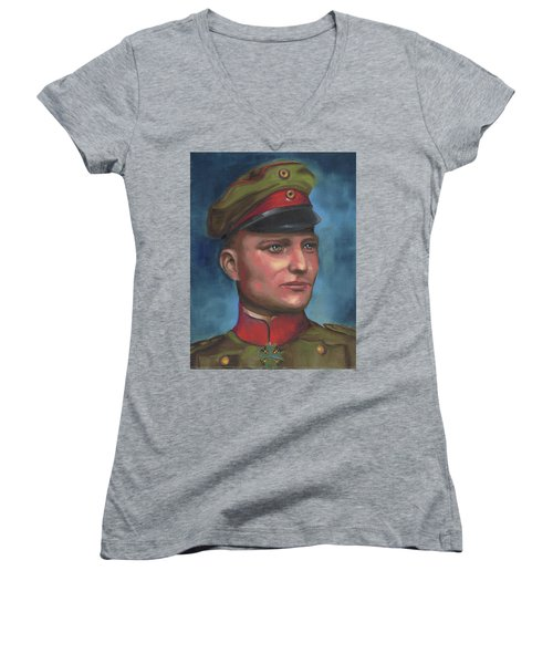 Manfred Von Richthofen The Red Baron Women's V-Neck (Athletic Fit)