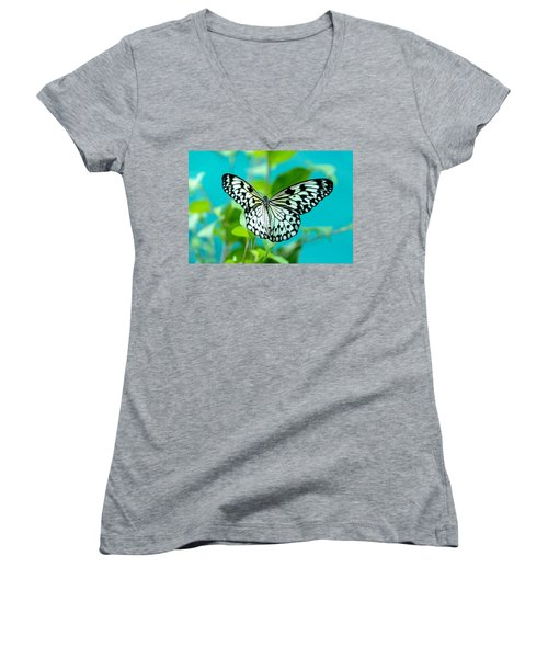 Women's V-Neck T-Shirt (Junior Cut) featuring the photograph Mangrove Tree Nymph by Jenny Rainbow