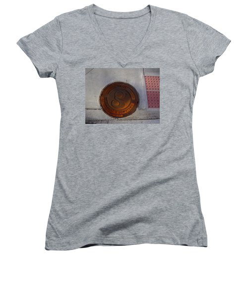 Manhole I Women's V-Neck (Athletic Fit)