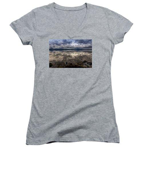 Manifestation  Women's V-Neck T-Shirt (Junior Cut) by Mitch Shindelbower