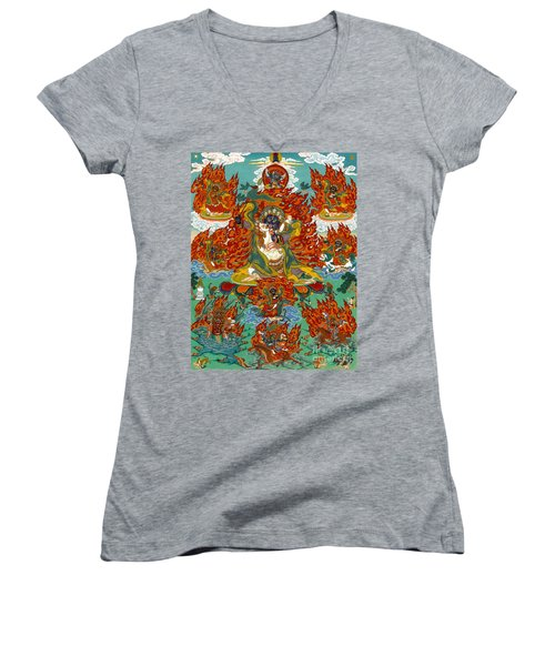 Maning Mahakala With Retinue Women's V-Neck (Athletic Fit)