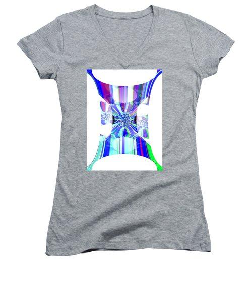 Man's Flag Women's V-Neck T-Shirt (Junior Cut) by Thibault Toussaint