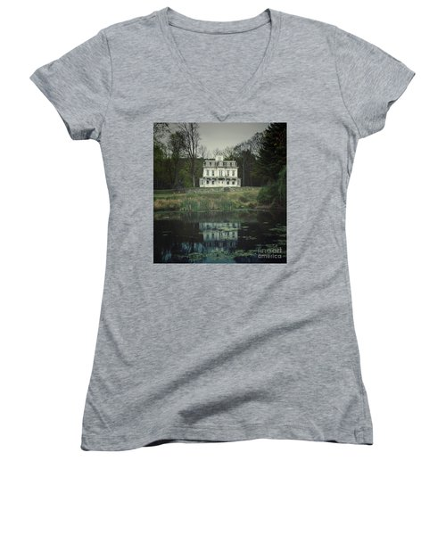 Mansion Reflected At Waterloo Women's V-Neck (Athletic Fit)