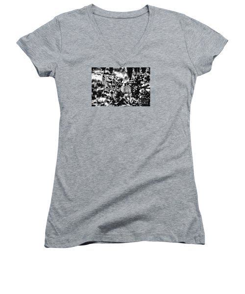 Women's V-Neck T-Shirt (Junior Cut) featuring the photograph Many Grapes by Rick Bragan