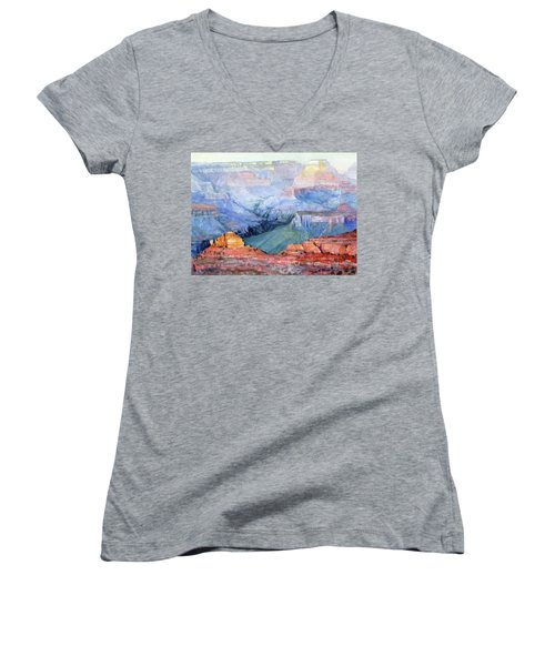 Women's V-Neck featuring the painting Many Hues by Steve Henderson