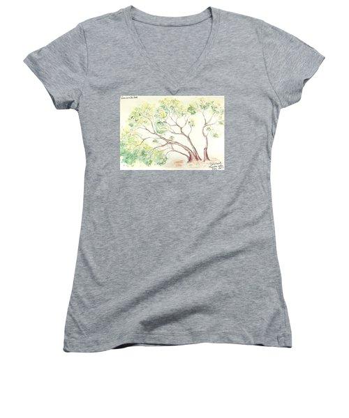 Manzanita Tree Women's V-Neck