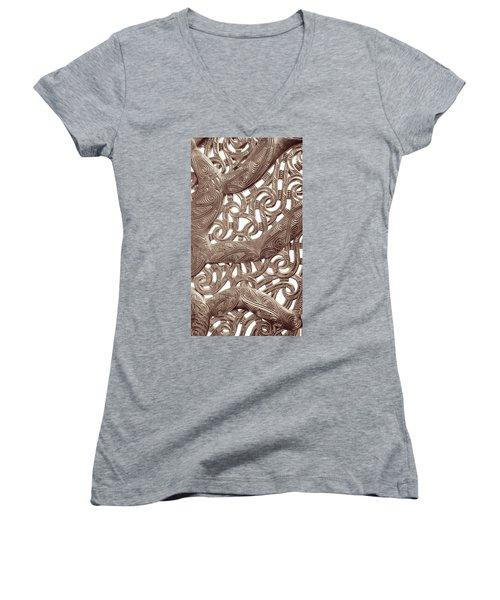 Maori Abstract Women's V-Neck