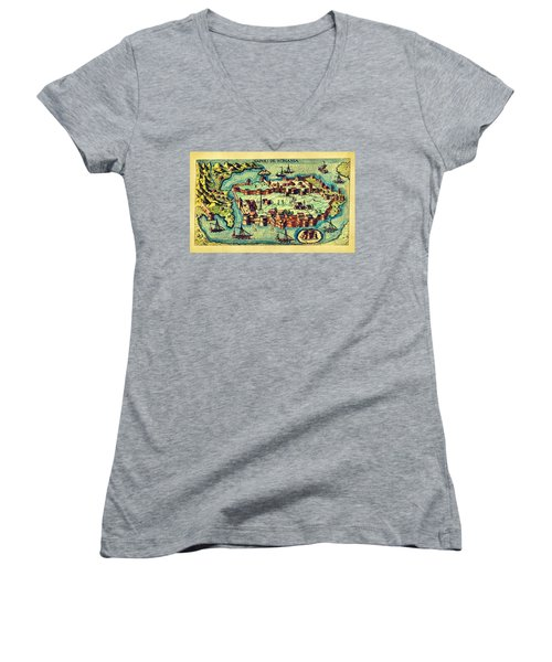 Map Seaport Women's V-Neck