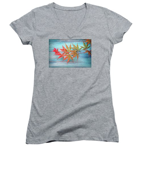 Maple Colors Women's V-Neck T-Shirt