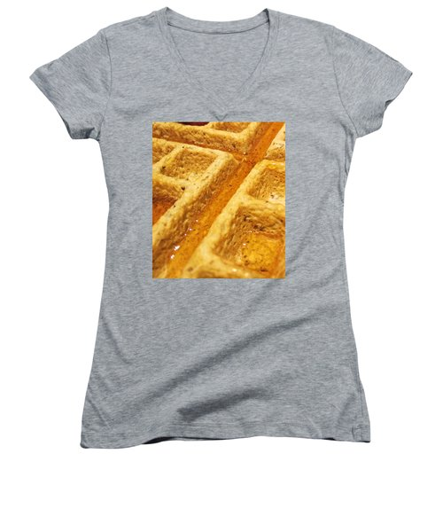 Women's V-Neck featuring the photograph Maple Street by Robert Knight