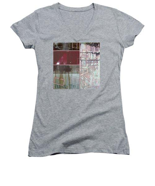 Maps #17 Women's V-Neck T-Shirt (Junior Cut)