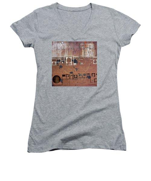 Maps #19 Women's V-Neck T-Shirt (Junior Cut)