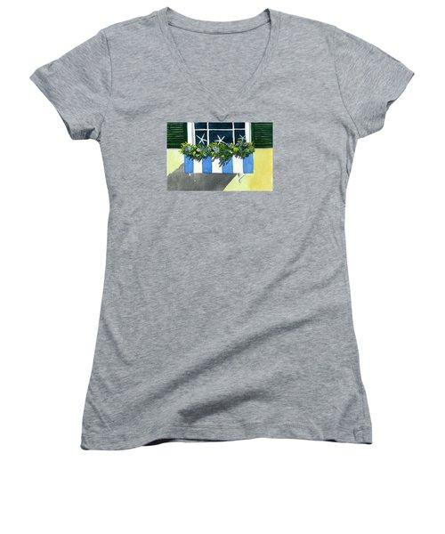 Marblehead Planter Box Women's V-Neck T-Shirt