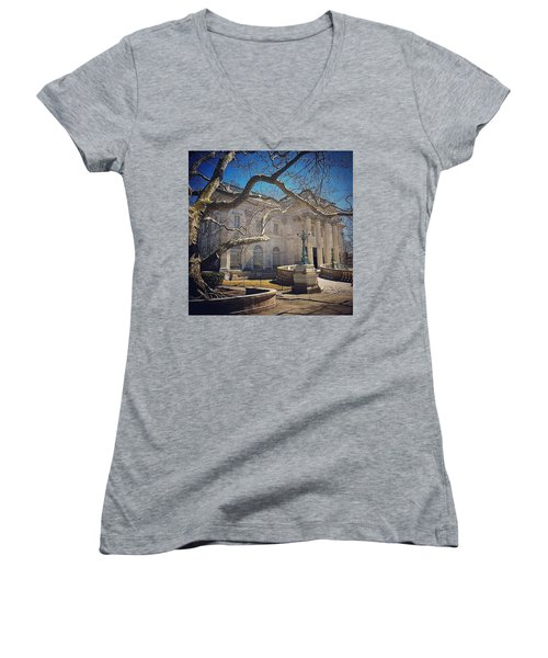 Marble House Women's V-Neck (Athletic Fit)