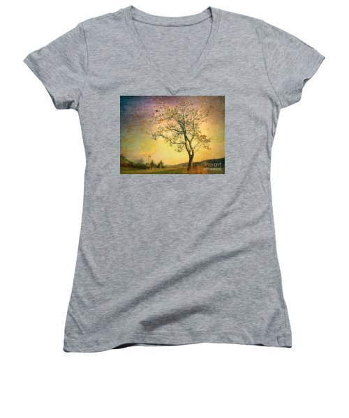 March 27 2010 Women's V-Neck T-Shirt (Junior Cut)