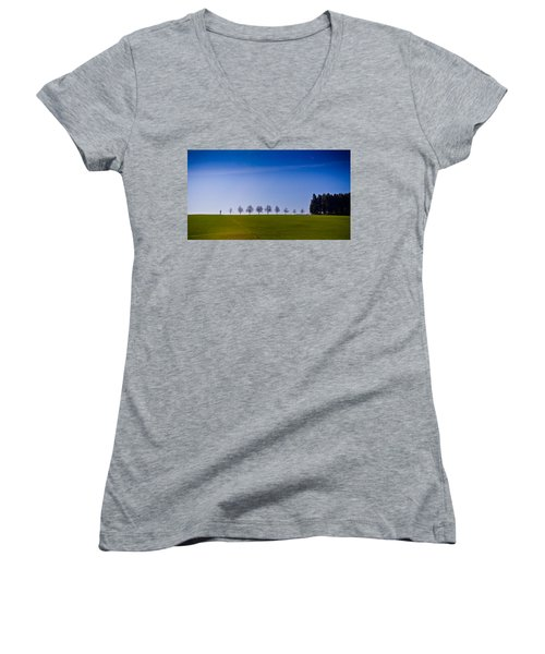 March To The Forest Women's V-Neck (Athletic Fit)