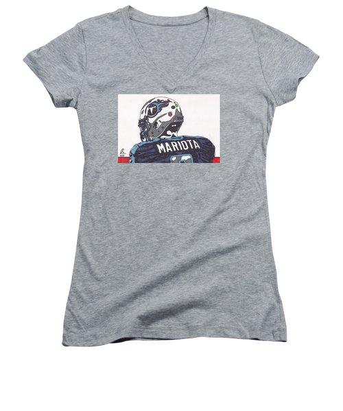 Marcus Mariota Titans 2 Women's V-Neck T-Shirt