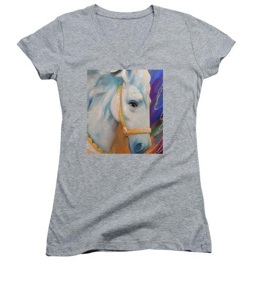 Mardi Gras Horse Women's V-Neck T-Shirt