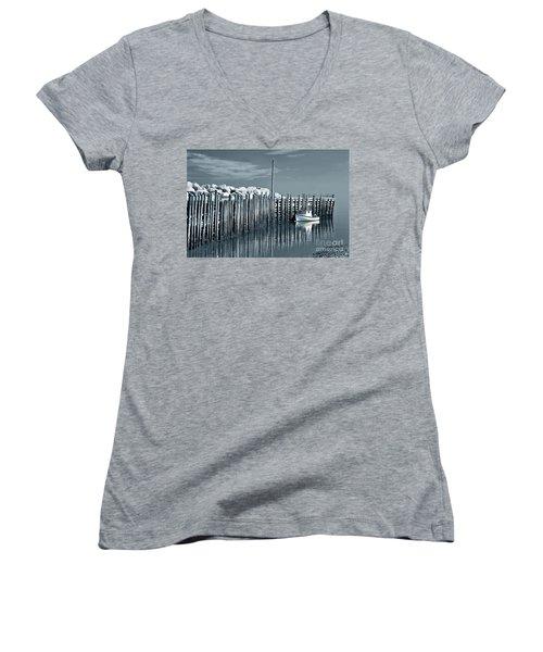 Margaretsville Wharf  Women's V-Neck T-Shirt