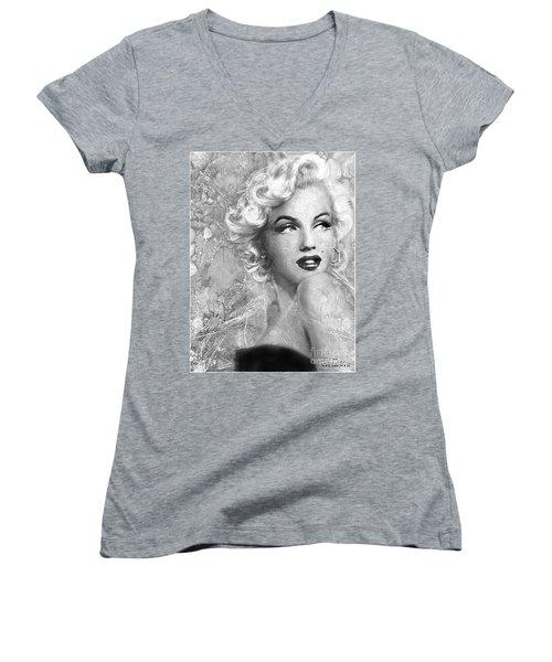 Marilyn Danella Ice Bw Women's V-Neck