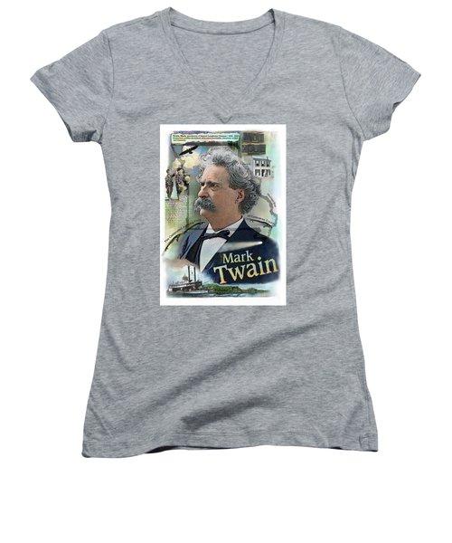 Mark Twain Women's V-Neck (Athletic Fit)