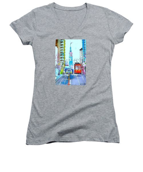 Market Street Women's V-Neck T-Shirt