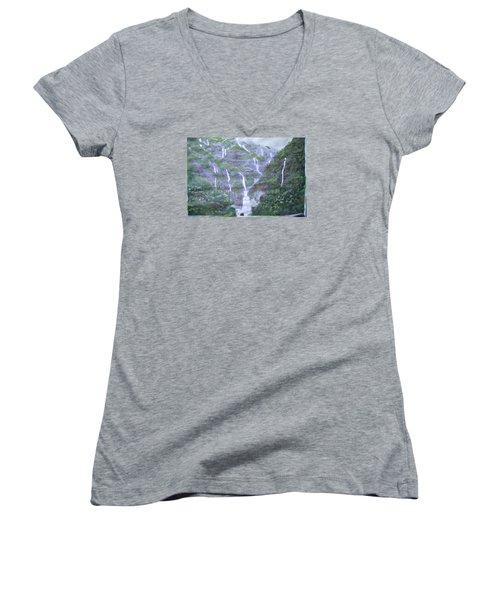 Marleshwar Women's V-Neck T-Shirt (Junior Cut) by Vikram Singh