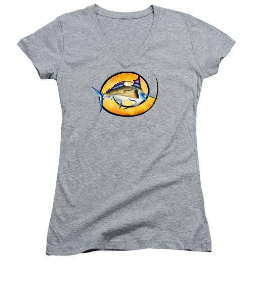 Marlinissos V1 - Violinfish Women's V-Neck T-Shirt (Junior Cut)