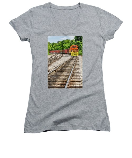 Marquette Rail Carrier Women's V-Neck