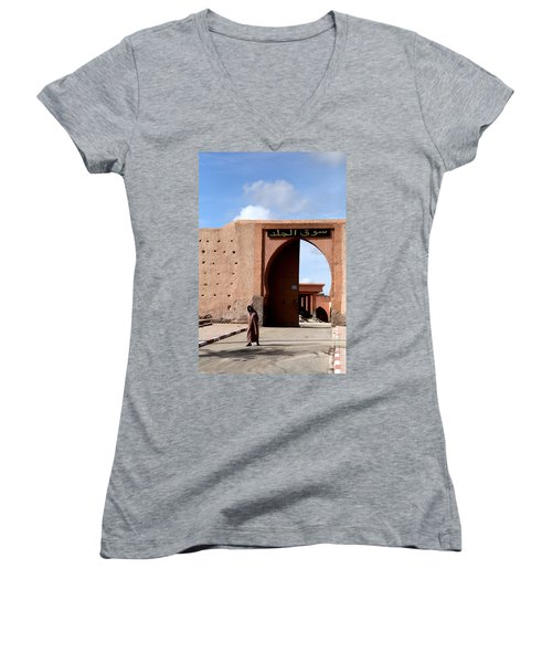 Women's V-Neck T-Shirt (Junior Cut) featuring the photograph Marrakech 1 by Andrew Fare
