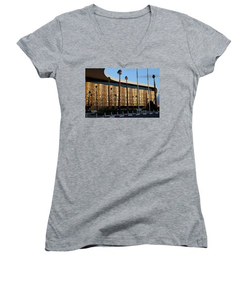 Women's V-Neck T-Shirt (Junior Cut) featuring the photograph Marrakech Airport 1 by Andrew Fare