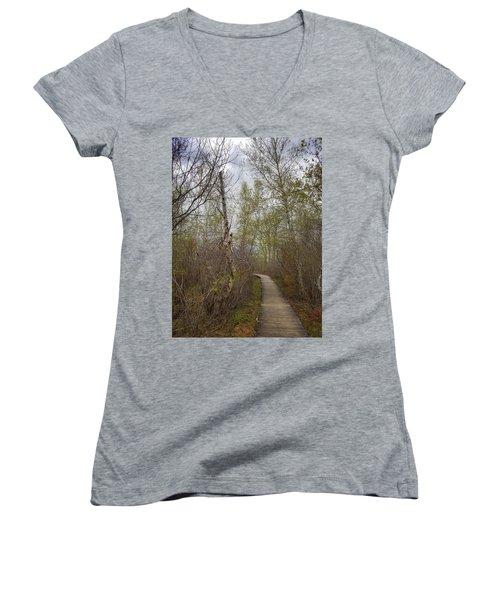 Marsh Walk 2 Women's V-Neck T-Shirt