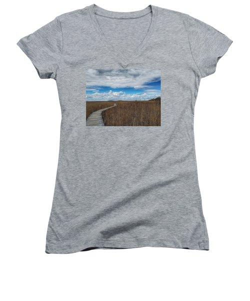 Marsh Walk 3 Women's V-Neck T-Shirt