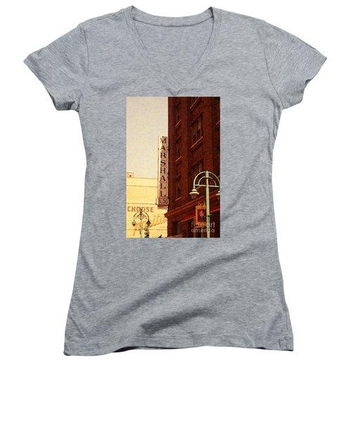 Marshall Bldg Women's V-Neck T-Shirt