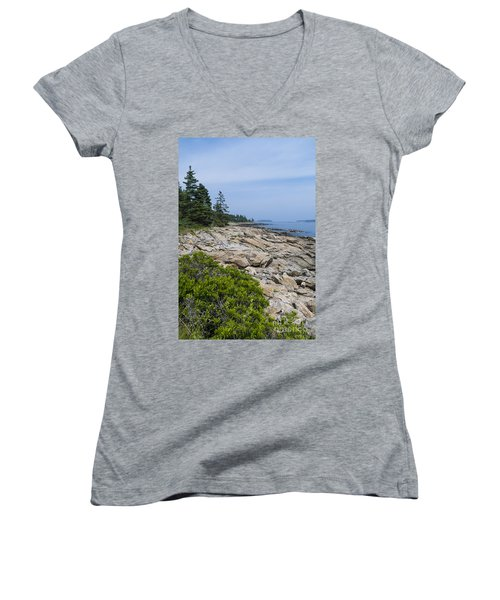 Marshall Ledge Looking Downeast Women's V-Neck T-Shirt