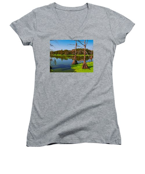 Marshes Of Wallisville Women's V-Neck T-Shirt
