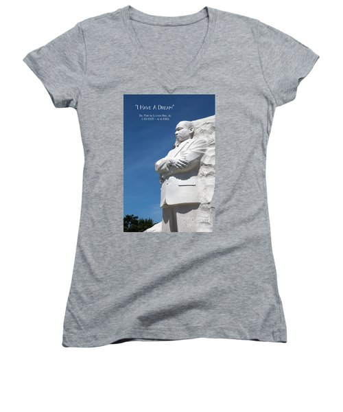 Martin Luther King Jr. Monument Women's V-Neck T-Shirt