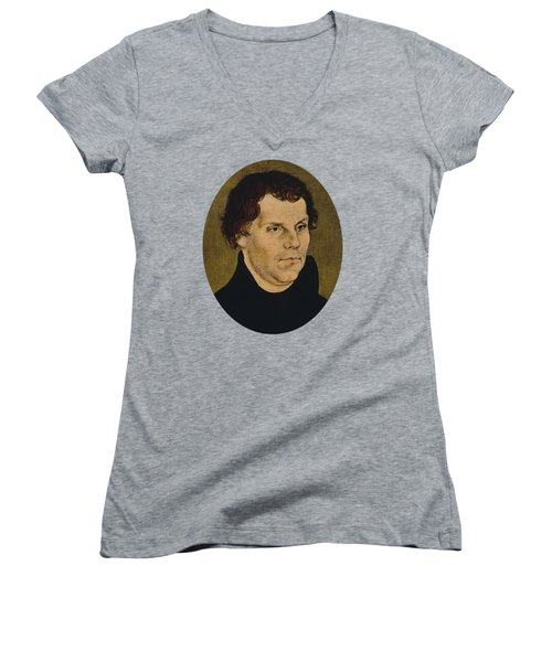 Martin Luther Painting  Women's V-Neck