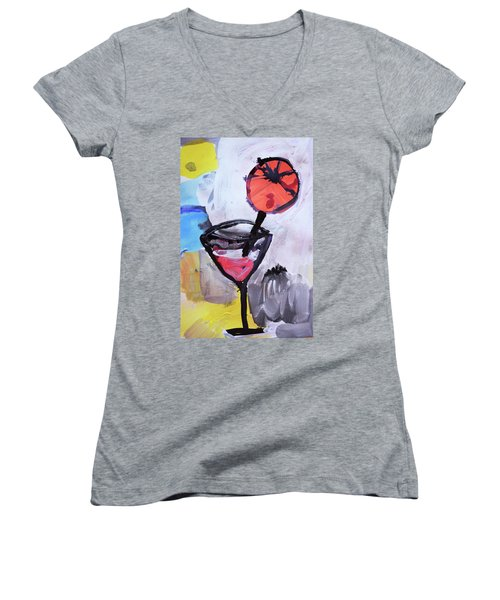 Martini And Orange Women's V-Neck T-Shirt