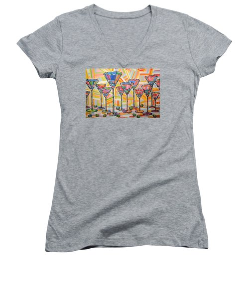Martini Hour Women's V-Neck (Athletic Fit)