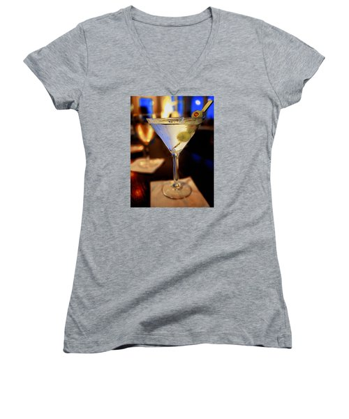 Martini Night Women's V-Neck (Athletic Fit)