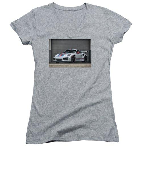 #martini #porsche 911 #gt3rs #print Women's V-Neck
