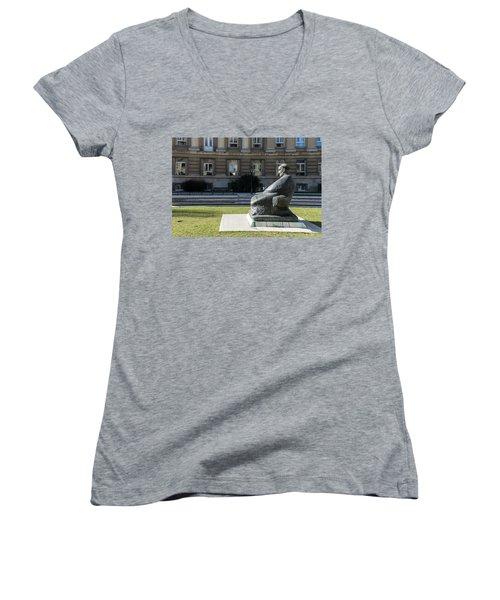 Marulic Square Zagreb  Women's V-Neck T-Shirt